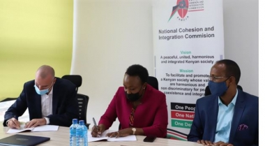 NCIC Signs MoU with Interpeace to Enhance Peacebuilding in Kenya